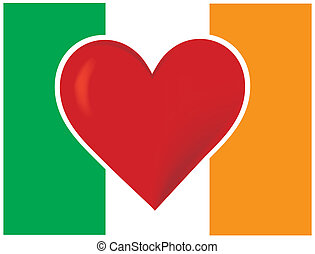 Heart Irish Flag