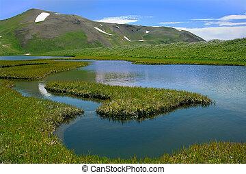 Heart island - Heart Island in tundra