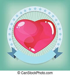 Heart jelly in ribbon valentine log