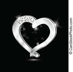 Heart jewelry swirly design logo