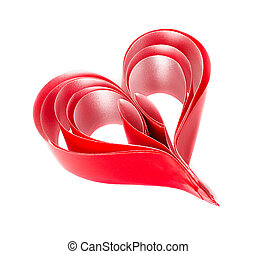 heart., jour, rouges, valentin