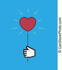 Heart Light Digital Hand