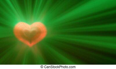 heart light ray pulsing motion