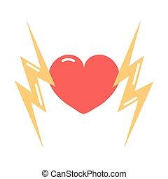 heart lightnings girl power