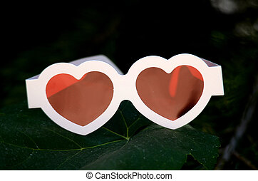 Heart like  red glases
