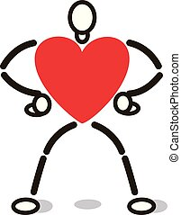 6006e55e Heart with arms and legs on skateboard, 3d illustration stock ...