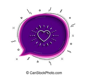Heart line icon. Love emotion sign. Vector