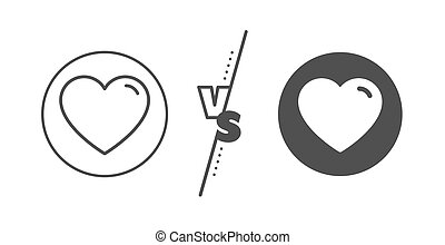 Heart line icon. Love sign. Vector