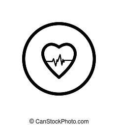 Heart line icon on a white background