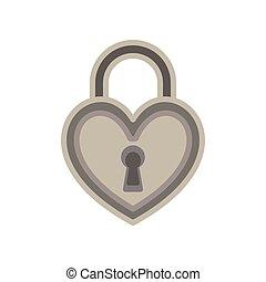 Heart lock love padlock key vector keyhole icon symbol illustration logo valentine