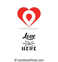 Heart logo design template. Creative symbol isolated. Valentines day love sign. Vector illustration.