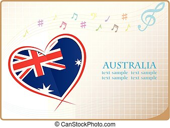 heart logo made from the flag of Australia