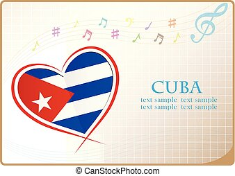 heart logo made from the flag of Cuba