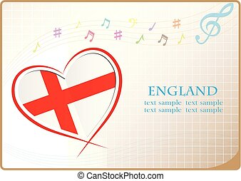 heart logo made from the flag of England