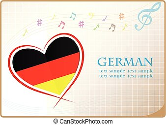 heart logo made from the flag of German
