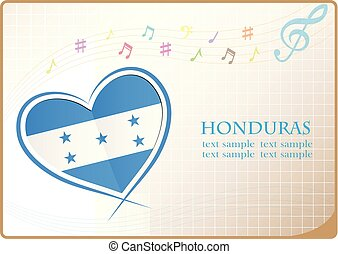 heart logo made from the flag of Honduras