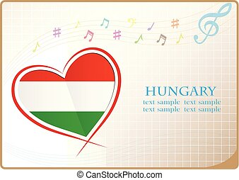 heart logo made from the flag of Hungary