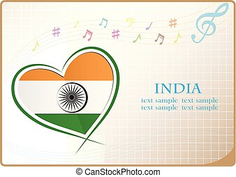heart logo made from the flag of India