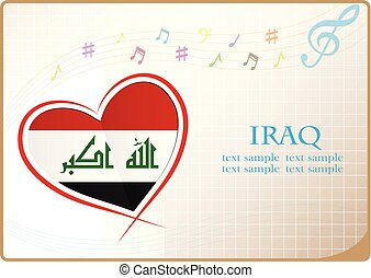 heart logo made from the flag of Iraq