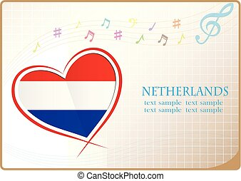 heart logo made from the flag of Netherlands
