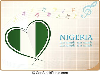 heart logo made from the flag of Nigeria