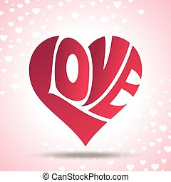 Heart Logo of couple in love vector