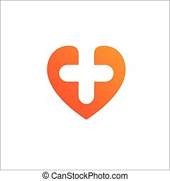 Heart Logo template.Cardiology Medical Health care Logotype concept icon.