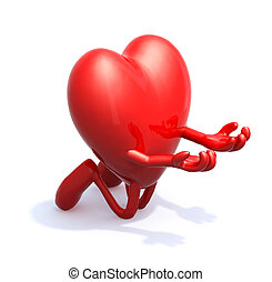 heart love alms charity, 3d illustration