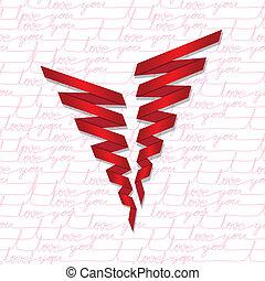 Heart love card, valentine day, bac