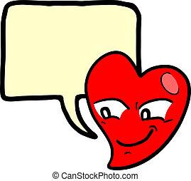 Heart love comic