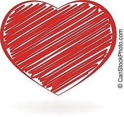 Heart love doodle