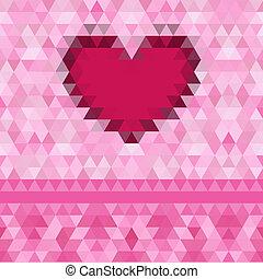 Heart love frame vector background