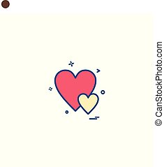 heart love gift icon vector design