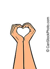 heart love hands gesture