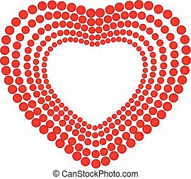 Heart love logo - Heart love identity card vector logo...