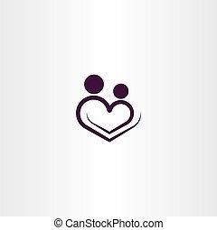 heart love logo vector icon illustration sign