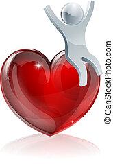 Heart love person