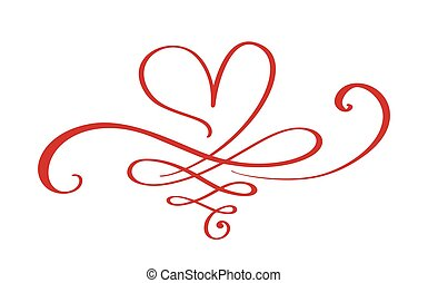 Heart love sign forever. Infinity Romantic symbol linked, ...