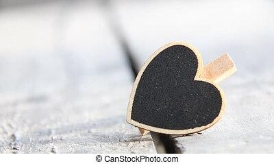 Heart. Love symbol. Valentine's Day sign, copy space, retro style