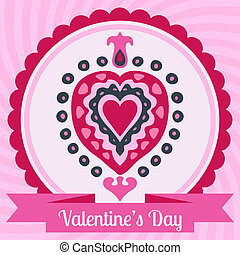 Heart love valentines day vector