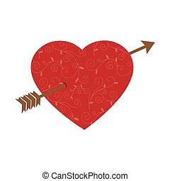 Heart Love With Arrow Romantic Card
