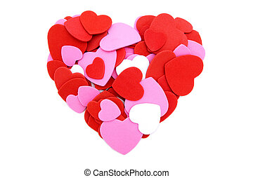 Heart made colorful confetti - Colorful heart made of...