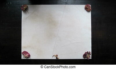 Heart made from dried rose petals stop motion animation