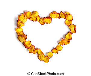 Heart Made from Rose Petals