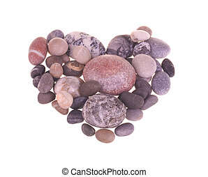 Heart made from stones