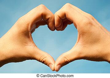 Heart made hands