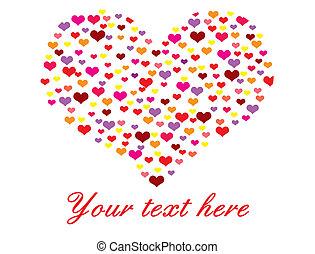 heart made of many hearts - Vector illustration of heart...