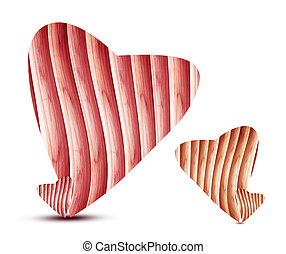 Heart made ??of wood