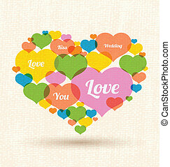 Heart made out of large group - Use for love concept,...