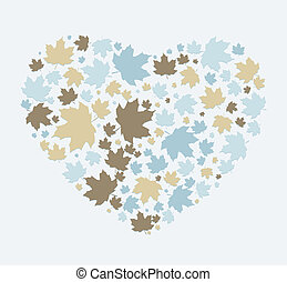 heart made ??out of maple leaves